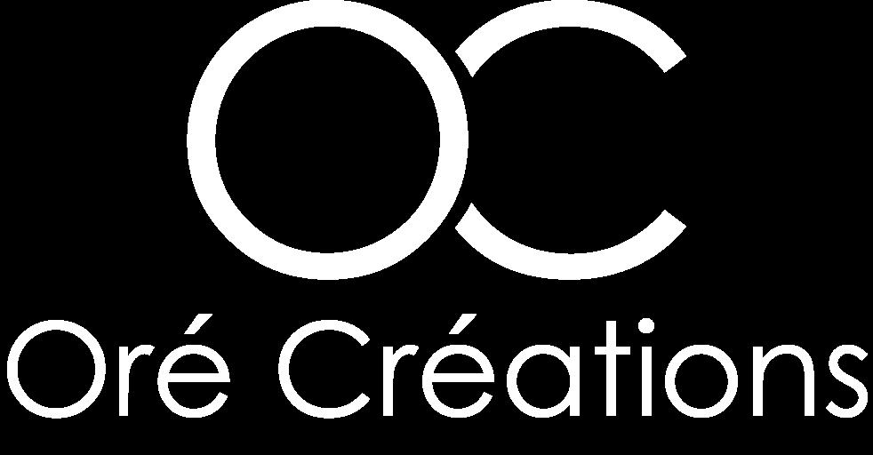 Logo blanc de Oré Créations.
